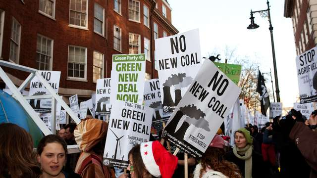 Campaigners for a Green New Deal in 2008